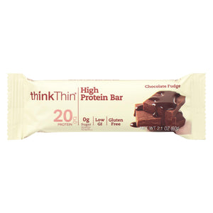 Think Products Thin Bar - Chocolate Fudge - Case Of 10 - 2.1 Oz