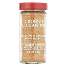 Load image into Gallery viewer, Morton And Bassett Seasoning - Coriander - Ground - 1.5 Oz - Case Of 3