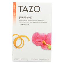 Load image into Gallery viewer, Tazo Tea Herbal Tea - Passion - Case Of 6 - 20 Bag