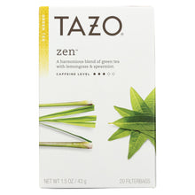 Load image into Gallery viewer, Tazo Tea Green Tea - Zen - Case Of 6 - 20 Bag