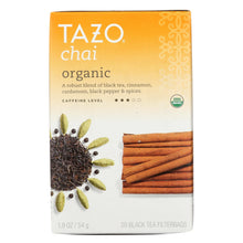 Load image into Gallery viewer, Tazo Tea Organic Tea - Spiced Black Chai - Case Of 6 - 20 Bag