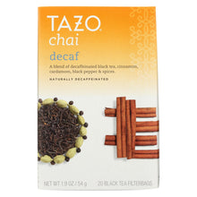 Load image into Gallery viewer, Tazo Tea Spiced Black Tea - Decaffeinated Tazo Chai - Case Of 6 - 20 Bag