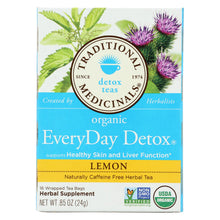 Load image into Gallery viewer, Traditional Medicinals Lemon Everyday Detox Herbal Tea - 16 Tea Bags - Case Of 6