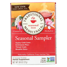 Load image into Gallery viewer, Traditional Medicinals Seasonal Herb Tea Sampler - 16 Tea Bags - Case Of 6