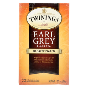 Twining's Tea Earl Grey Tea - Decaffeinated - Case Of 6 - 20 Bags