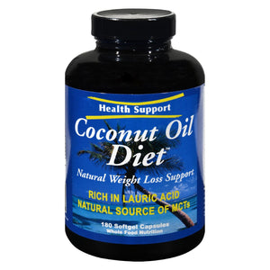 Health Support Coconut Oil Diet - 180 Softgel Capsules