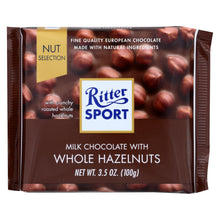 Load image into Gallery viewer, Ritter Sport Chocolate Bar - Milk Chocolate - Whole Hazelnuts - 3.5 Oz Bars - Case Of 10
