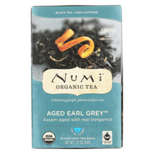 Load image into Gallery viewer, Numi Aged Earl Grey Bergamot Black Tea - 18 Tea Bags - Case Of 6