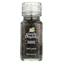 Load image into Gallery viewer, Simply Organic Daily Grind Black Peppercorns - Organic - Grinder - 3 Oz