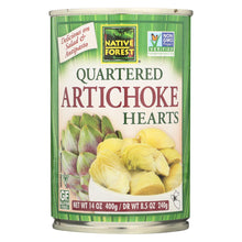 Load image into Gallery viewer, Native Forest Quartered Artichoke Hearts - Case Of 6 - 14 Oz.