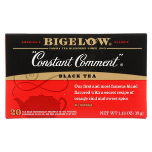 Bigelow Tea Constant Comment Black Tea - Case Of 6 - 20 Bags