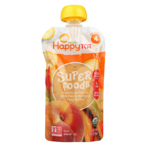 Happy Baby Happytot Organic Superfood Banana Peach And Mango - 4.22 Oz - Case Of 16