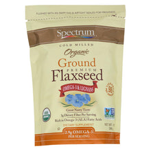 Load image into Gallery viewer, Spectrum Essentials Organic Ground Flaxseed - 14 Oz
