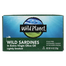 Load image into Gallery viewer, Wild Planet Wild Sardines In Extra Virgin Olive Oil - Case Of 12 - 4.375 Oz.