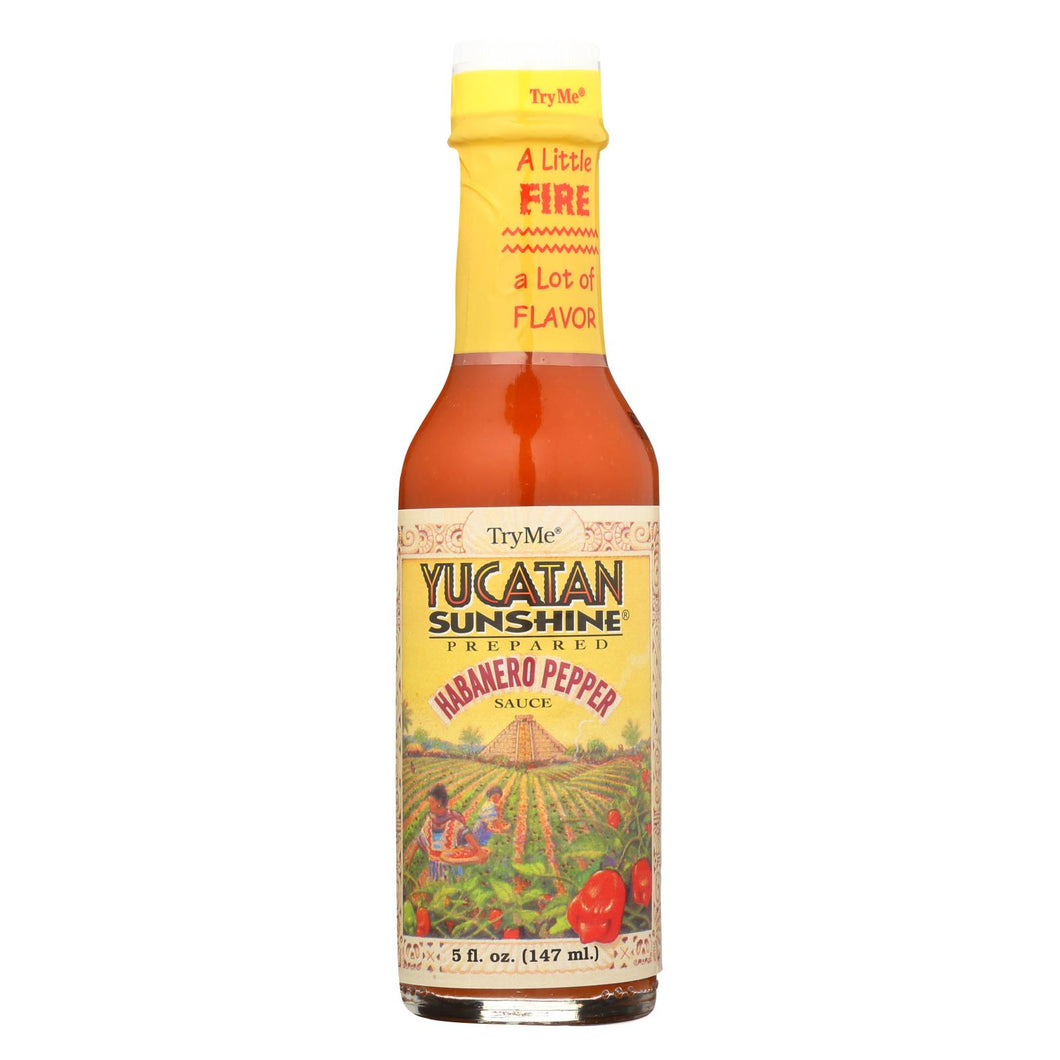 Try Me Yucatan Sunshine - Habanero Pepper Sauce - Case Of 6 - 5 Fl Oz.