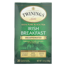 Load image into Gallery viewer, Twining's Tea Breakfast Tea - Irish, Decaf - Case Of 6 - 20 Bags