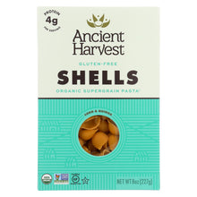 Load image into Gallery viewer, Ancient Harvest Organic Gluten Free Quinoa Supergrain Pasta - Shells - Case Of 12 - 8 Oz