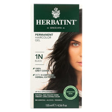 Load image into Gallery viewer, Herbatint Permanent Herbal Haircolour Gel 1n Black - 135 Ml