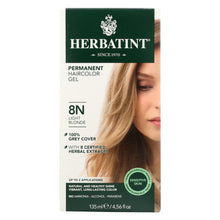 Load image into Gallery viewer, Herbatint Permanent Herbal Haircolour Gel 8n Light Blonde - 135 Ml