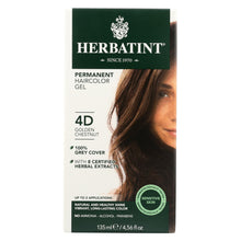 Load image into Gallery viewer, Herbatint Permanent Herbal Haircolour Gel 4d Golden Chestnut - 135 Ml