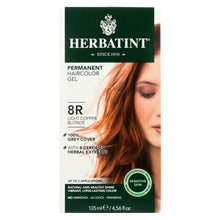 Load image into Gallery viewer, Herbatint Permanent Herbal Haircolour Gel 8r Light Copper Blonde - 135 Ml