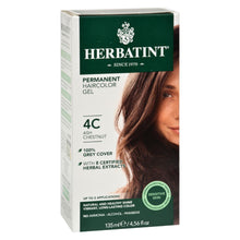 Load image into Gallery viewer, Herbatint Haircolor Kit Ash Chestnut 4c - 4 Fl Oz