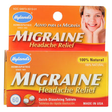 Load image into Gallery viewer, Hyland's Migraine Headache Relief - 60 Tablets