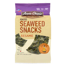 Load image into Gallery viewer, Annie Chun's Seaweed Snacks Roasted Sesame - Case Of 12 - 0.35 Oz.
