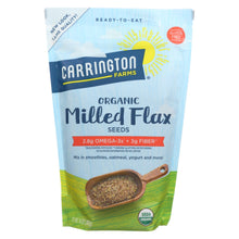 Load image into Gallery viewer, Carrington Farms Organic Milled Flax Seeds - Linaza Molida - Case Of 6 - 14 Oz