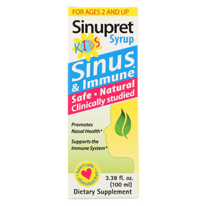 Sinupret Kids Syrup - 3.38 Fl Oz