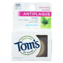 Load image into Gallery viewer, Tom's Of Maine Antiplaque Flat Floss Waxed Spearmint - 32 Yards - Case Of 6