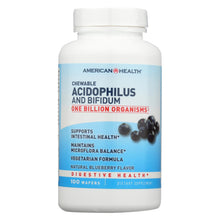 Load image into Gallery viewer, American Health - Acidophilus And Bifidus Chewable Blueberry - 100 Wafers