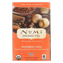 Load image into Gallery viewer, Numi Tea Organic Herbal Tea - Rooibos Chai - Case Of 6 - 18 Bags