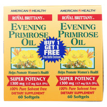 Load image into Gallery viewer, American Health - Evening Primrose Oil - 1300 Mg - 60+60 Softgels