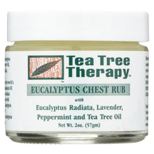 Load image into Gallery viewer, Tea Tree Therapy Eucalyptus Chest Rub Eucalyptus Australiana Lavender Peppermint And Tea Tree Oil - 2 Oz
