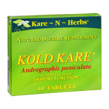 Load image into Gallery viewer, Kare-n-herbs Kold Kare - 40 Tablets