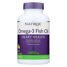 Load image into Gallery viewer, Natrol Omega-3 Fish Oil Lemon - 1000 Mg - 150 Softgels