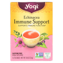 Load image into Gallery viewer, Yogi Immune Support Herbal Tea Echinacea - 16 Tea Bags - Case Of 6