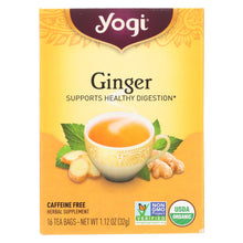 Load image into Gallery viewer, Yogi Organic Herbal Tea Caffeine Free Ginger - 16 Tea Bags - Case Of 6