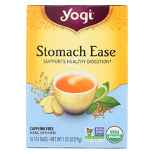 Load image into Gallery viewer, Yogi Organic Stomach Ease Herbal Tea - 16 Tea Bags - Case Of 6