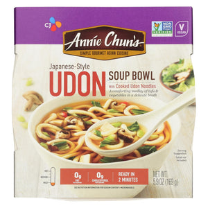 Annie Chun's Udon Soup Bowl - Case Of 6 - 5.9 Oz.