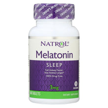 Load image into Gallery viewer, Natrol Melatonin - 3 Mg - 60 Tablets