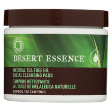 Load image into Gallery viewer, Desert Essence - Natural Tea Tree Oil Facial Cleansing Pads - Original - 50 Pads