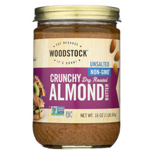 Load image into Gallery viewer, Woodstock Almond Butter - Crunchy - Unsalted - 16 Oz.
