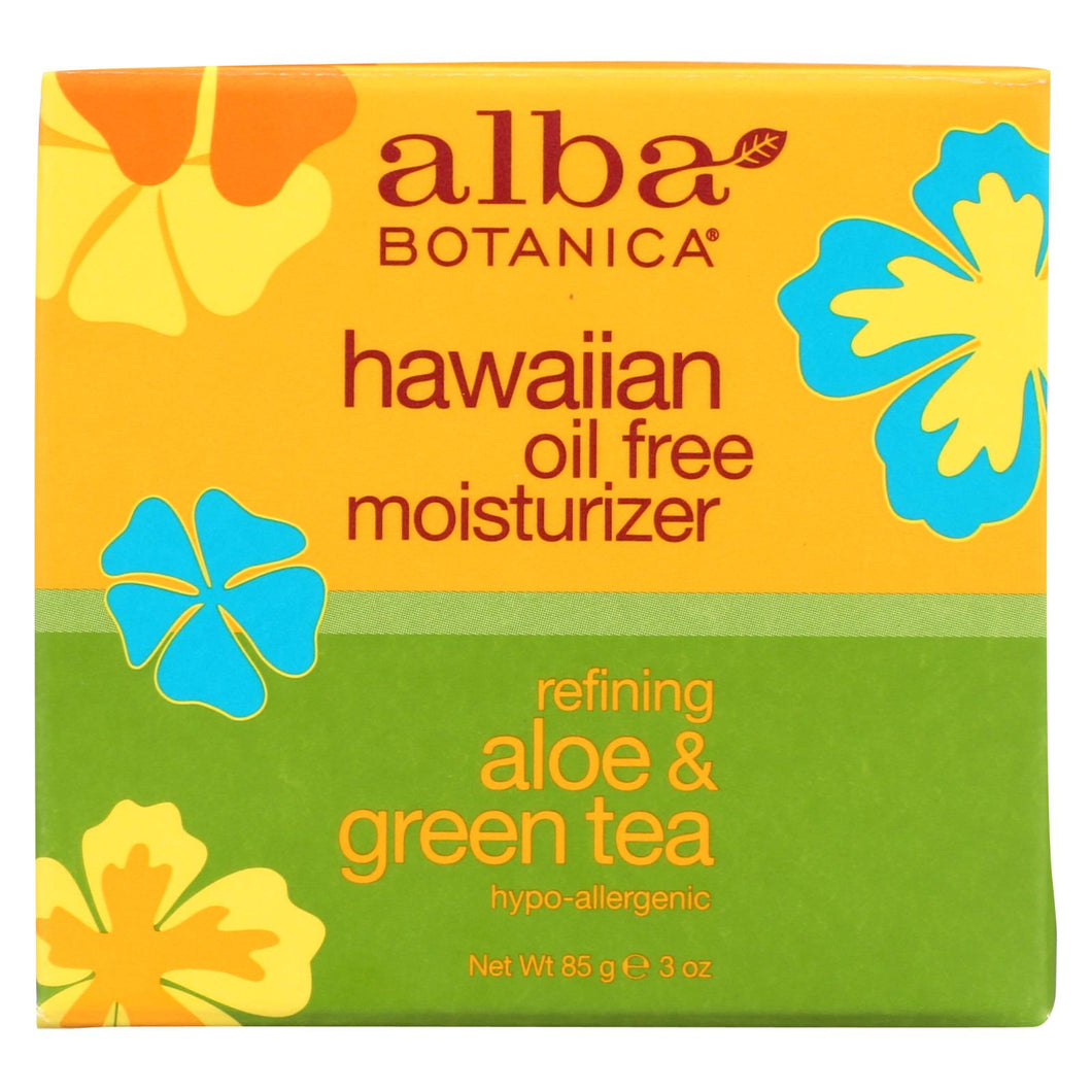 Alba Botanica - Hawaiian Aloe And Green Tea Moisturizer Oil-free - 3 Oz