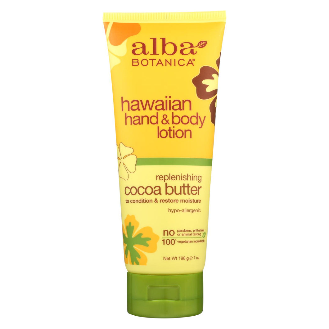Alba Botanica - Hawaiian Hand And Body Lotion - Cocoa Butter - 7 Fl Oz