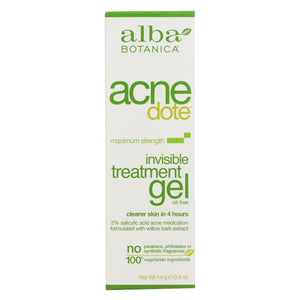 Alba Botanica - Natural Acnedote Invisible Treatment Gel - 0.5 Oz