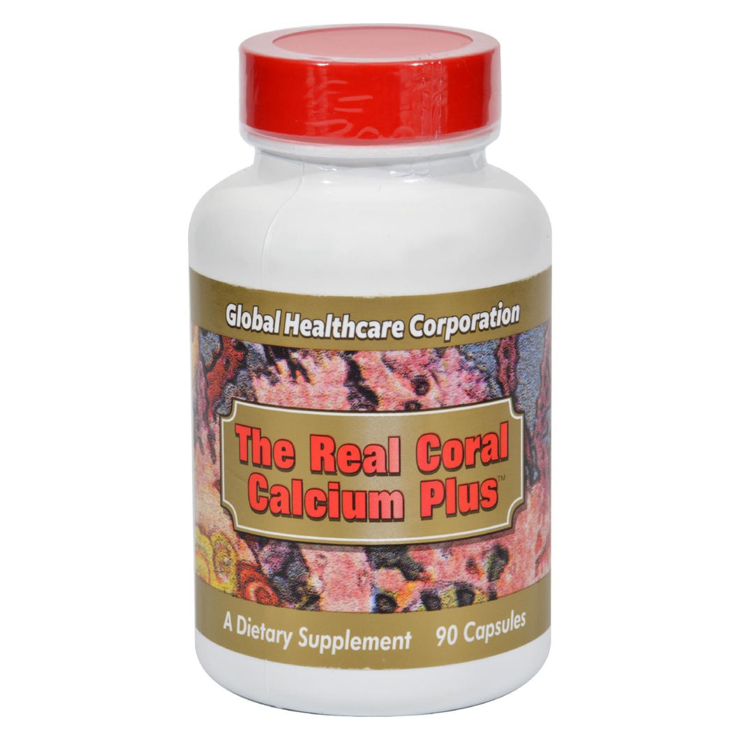 Global Healthcare The Real Coral Calcium Plus - 90 Capsules