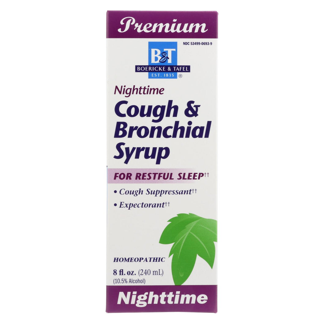 Boericke And Tafel - Cough And Bronchial Syrup Nighttime - 8 Fl Oz
