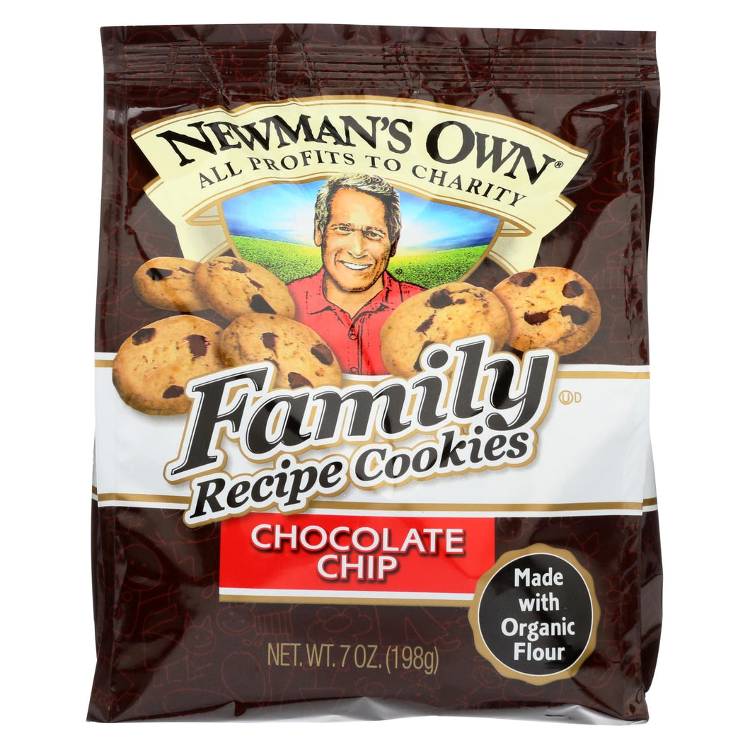 Newman's Own Organics Cookies - Chocolate Chip - Case Of 6 - 7 Oz.